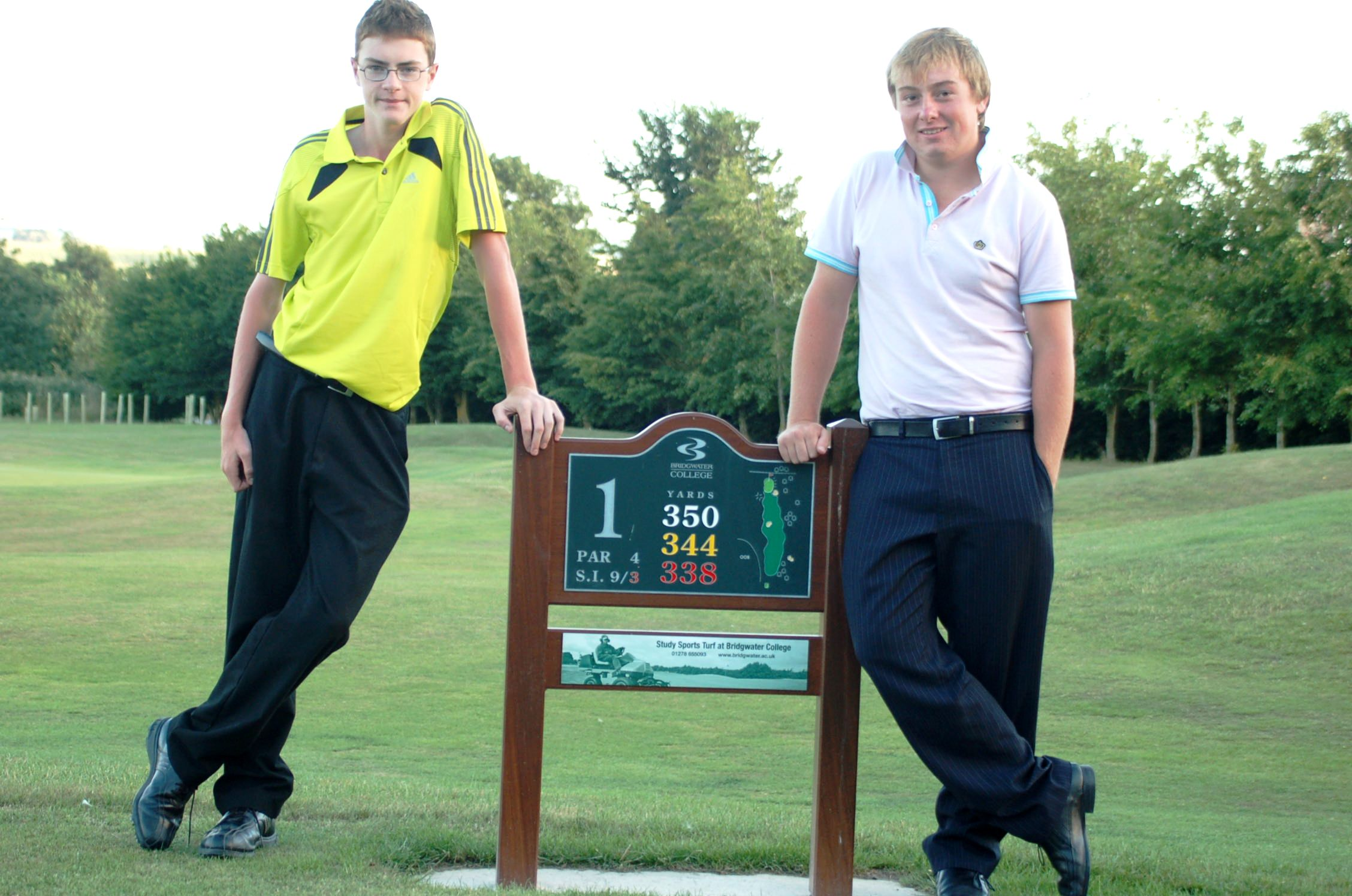 Left to Right: Handicap Champion James Sewell and Scratch Champion Josh Butterfield.